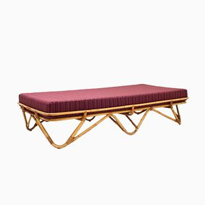 Daybed in Rattan, 1950s