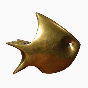 Vintage Fish Ashtray in Brass