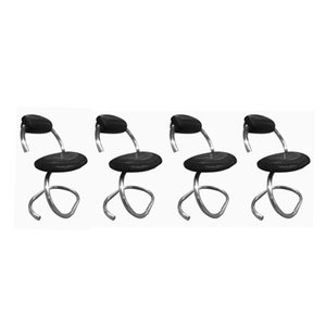 Italian Cobra Chairs by Giotto Stoppino, 1970s, Set of 4