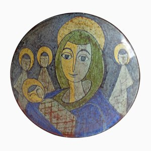 Danish Bowl Depicting Virgin Mary from MA&S, 1960s