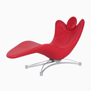 Vintage Swiss Red DS-151 Chaise Lounge by Jane Worthington for de Sede, 1990s
