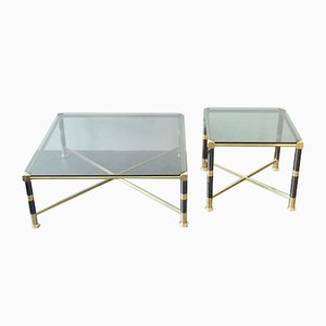 Hollywood Regency Style Side Table & Coffee Table, 1970s