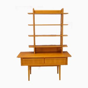 Console with Bookshelf in Teak, 1950s