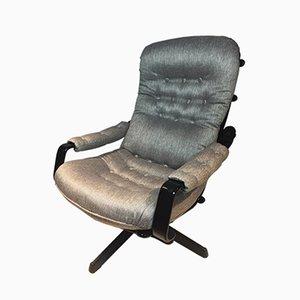 Grauer Schwedischer Vintage Sessel von Göte Möbel Nassjo