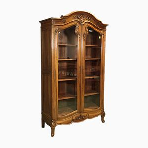 Antique Louis XV-Style Display Cabinet in Walnut