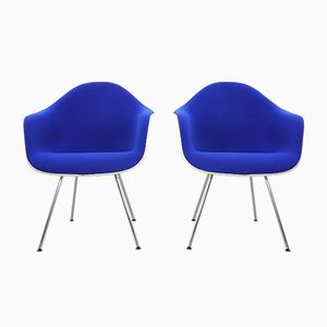 Vintage Armchairs in Blue by Charles & Ray Eames for Herman Miller, Set of 2