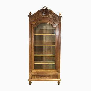 Antique Louis XVI-Style Display Cabinet in Walnut