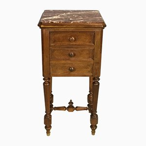 19th-Century Louis Philippe Night Table in Walnut