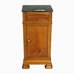 19th-Century Cherry & Marble Bedside Table