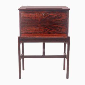 Rosewood Desk by Henry Rosengren Hansen for Brande Møbelindustri, 1950s