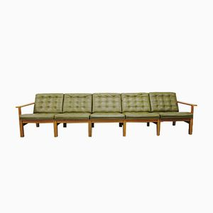 Vintage Modular Sofa in Oak by Ole Gjerløv-Knudsen & Torben Lind for France & Son