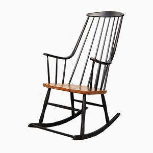 Vintage Grandessa Rocking Chair by Lena Larssen for Nesto