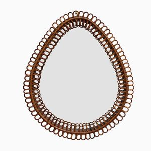 Italian Teardrop-Shaped Wall Mirror, 1960s