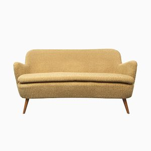 Cocktail Sofa in Gelb, 1950er