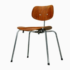Vintage SE 68 SU Teak Stacking Chair by Egon Eiermann for Wilde & Spieth