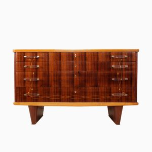 Italian Rosewood Chest of Drawers by Vittorio Dassi, 1950s