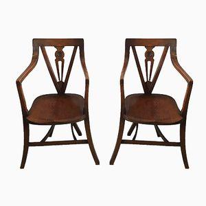 Vintage Oak Armchairs, Set of 2