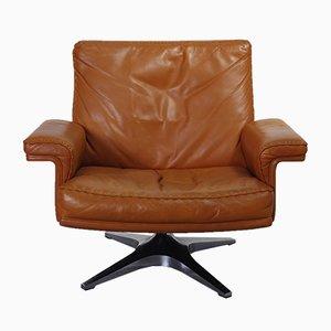 DS35 Cognac Swivel Club Chair from De Sede, 1960s