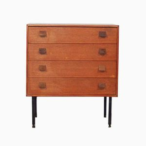 Vintage Teak Chest of Drawers, 1950s
