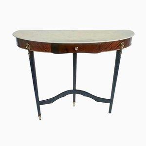 Italian Mahogany Console Table, 1950s