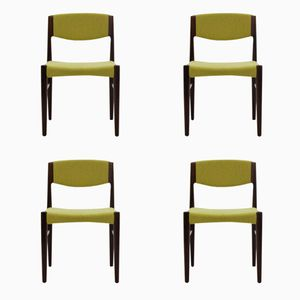 Danish Palisander Chairs from Glostrup, 1960s, Set of 4