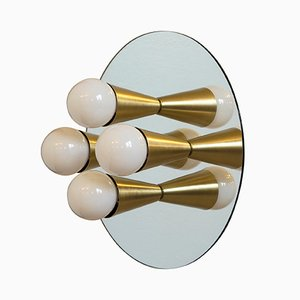 Echo 4 Sconce in Brass by Shaun Kasperbauer for Souda