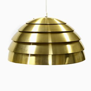 Brass Colored Aluminium T 325 Lamingo Dome Pendant Light from Hans-Agne Jakobsson AB Markaryd, 1960s