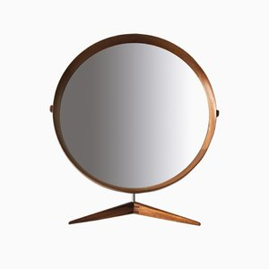 Mid-Century Swedish Large Teak Table Mirror by Östen & Uno Kristiansson for Luxus, 1960s