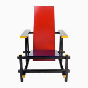 Red & Blue Chair by Gerrit Thomas Rietveld for Cassina, 1970s