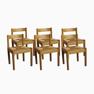 Carimate Side Chairs by Vico Magistretti for Cassina, 1960s, Set of 6