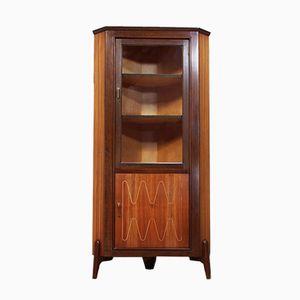 Teak & Glass Corner Cabinet from Everest, 1950s