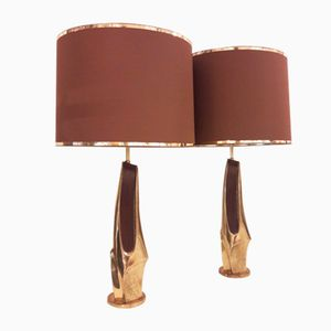 American Brutalist Lamps from Laurel, 1970s, Set of 2