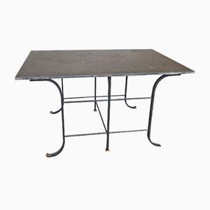 Antiker Französischer Tisch mit Granitplatte