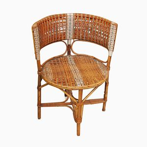 Vintage Wicker Armchair by Prag-Rudniker for Korbfabrikation