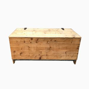 Large Antique French Pine Chest