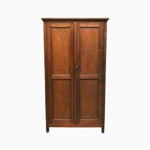 Vintage French Wooden Locker Cabinet