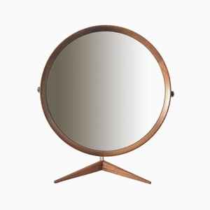 Large Teak Table Mirror by Östen & Uno Kristiansson for Luxus, 1960s