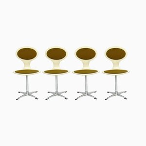Mid-Century Scandinavian Swivel-Chairs from Glostrup, 1970s, Set of 4