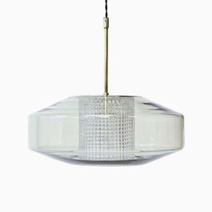 Mid-Century Swedish Glass Pendant Lamp by Carl Fagerlund for Orrefors, 1960s