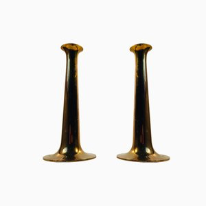 Mid-Century Brass Candlesticks by Hans Bolling for Torben Ørskov, 1960s, Set of 2