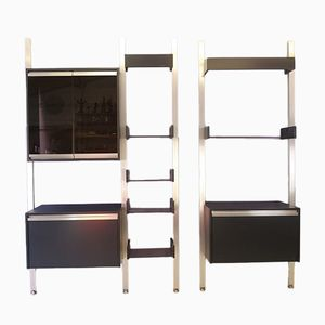 Double Modular Shelving Units by Michel Ducaroy for Ligne Roset, 1970s, Set of 2