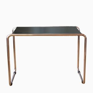 German Bauhaus Chromed Tubular Steel & Laquered Wood Sidetable, 1930s