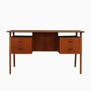 Mid-Century Danish Teak Writing Desk, 1960s