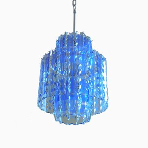 Murano Chandelier With Art Glass from Fontana Arte, 1970s