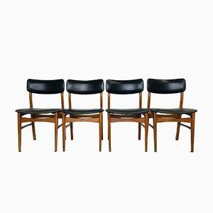 Mid-Century Danish Chairs, 1950s, Set of 4