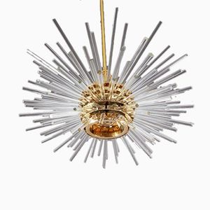Mid-Century Gold-Plated Austrian Chandelier from Bakalowits & Söhne