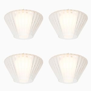 Dutch Mid-Century Model NGR 49 E/00 Ceiling Lights from Philips, 1961, Set of 4