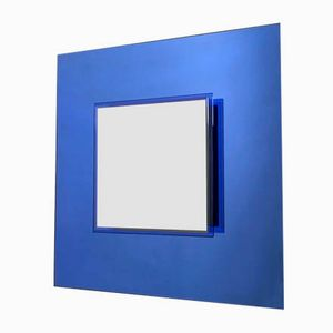 Royal Blue Wall Mirror from Veca, 1970s