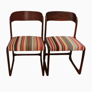 Mid-Century Sled Chairs from Baumann, Set of 2
