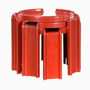 4905 Nesting Tables by Giotto Stoppino for Kartell, 1970s
